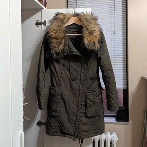 Etam Jackets & Coats - Etam Insulated Fur Collar Jacket